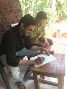 インドのクリニックでドクターに診断してもらいました